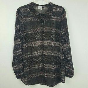 CAbi | Sheer Tunic Size L